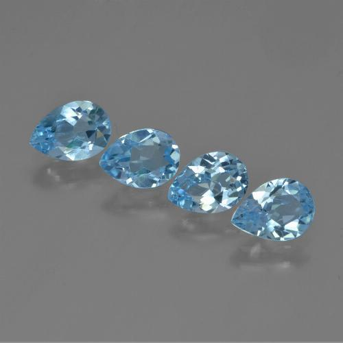Swiss Blue Topaz Gem - 0.8ct Pear Facet (ID: 450327)