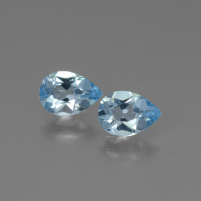 Swiss Blue Topaz Gem - 0.8ct Pear Facet (ID: 450489)