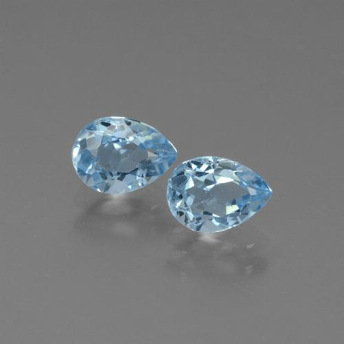 Baby Blue Topaz Gem - 0.9ct Pear Facet (ID: 450491)