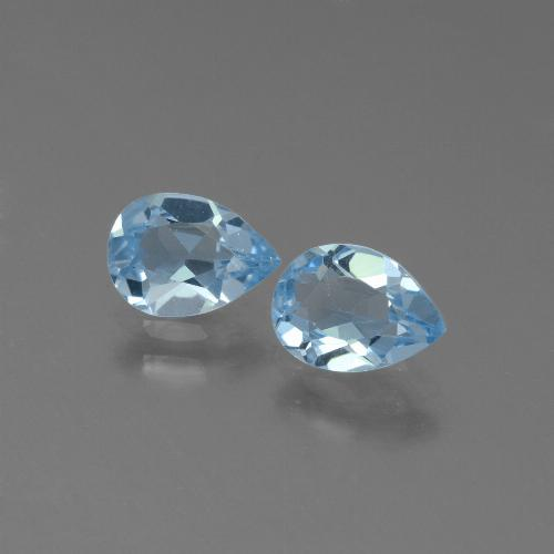 Swiss Blue Topaz Gem - 0.8ct Pear Facet (ID: 450494)