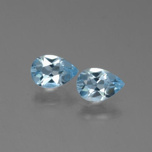 Baby Blue Topaz Gem - 0.8ct Pear Facet (ID: 450497)