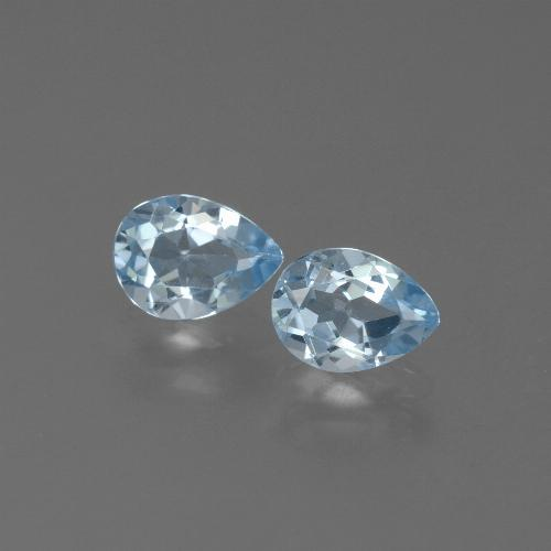Swiss Blue Topaz Gem - 0.9ct Pear Facet (ID: 450524)