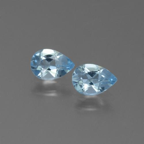 Swiss Blue Topaz Gem - 0.8ct Pear Facet (ID: 450534)