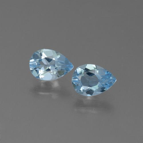 Swiss Blue Topaz Gem - 0.8ct Pear Facet (ID: 450535)