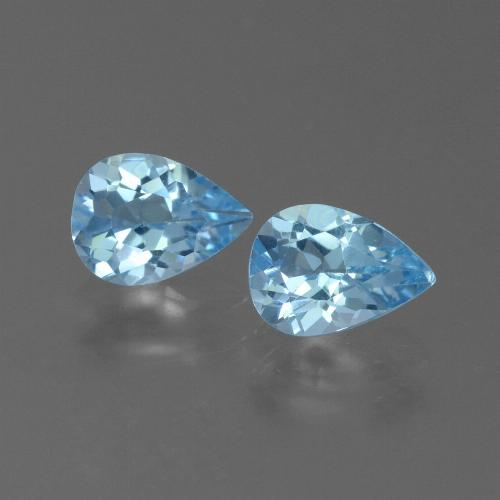 Swiss Blue Topaz Gem - 0.7ct Pear Facet (ID: 450596)