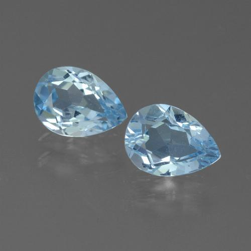 Baby Blue Topaz Gem - 0.9ct Pear Facet (ID: 450598)