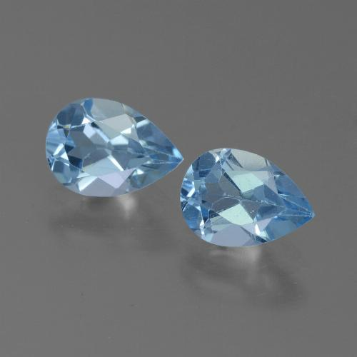 Baby Blue Topaz Gem - 0.8ct Pear Facet (ID: 450599)