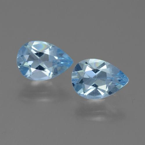 Swiss Blue Topaz Gem - 0.8ct Pear Facet (ID: 450606)