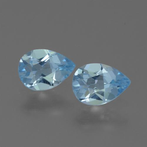 Swiss Blue Topaz Gem - 0.8ct Pear Facet (ID: 450668)