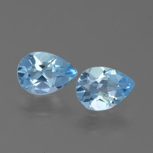 Sky Blue Topaz Gem - 0.8ct Pear Facet (ID: 450670)