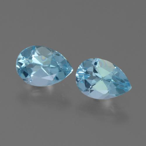 Swiss Blue Topaz Gem - 0.8ct Pear Facet (ID: 450678)