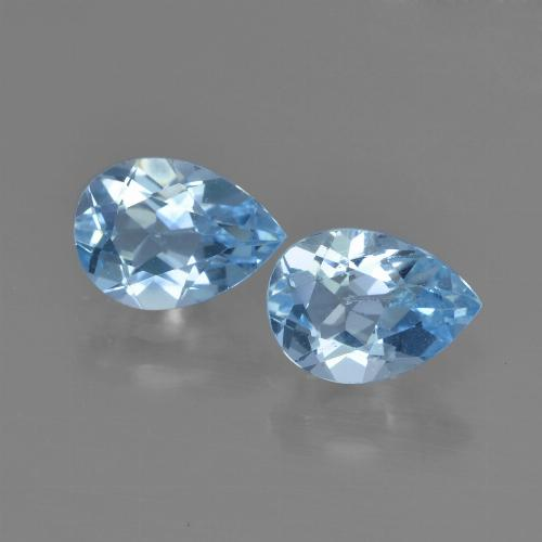 Swiss Blue Topaz Gem - 0.9ct Pear Facet (ID: 450805)