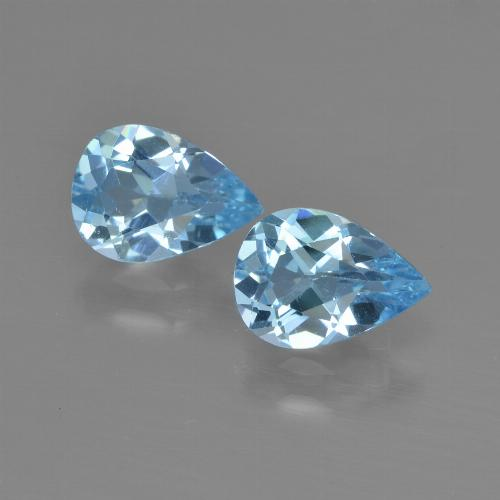 Sky Blue Topaz Gem - 0.8ct Pear Facet (ID: 450807)