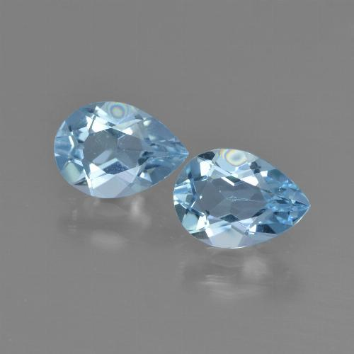 Swiss Blue Topaz Gem - 0.8ct Pear Facet (ID: 450808)