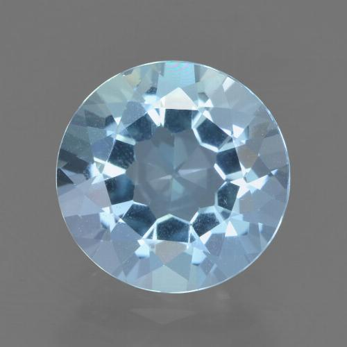 Sky Blue Topaz Gem - 2.4ct Round Facet (ID: 452152)