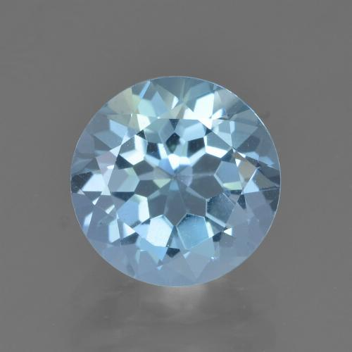 Sky Blue Topaz Gem - 2.4ct Round Facet (ID: 452156)