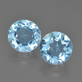 Sky Blue Topaz Gem - 2.4ct Round Facet (ID: 452176)
