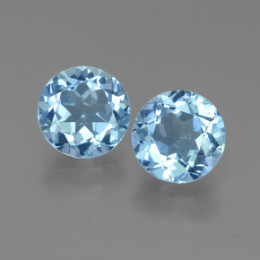 Sky Blue Topaz Gem - 2.3ct Round Facet (ID: 452189)