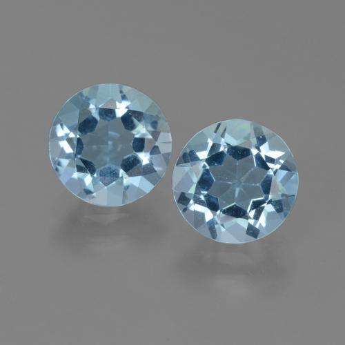 Sky Blue Topaz Gem - 2.3ct Round Facet (ID: 452195)