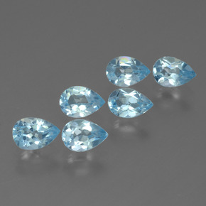 Sky Blue Topaz Gem - 0.6ct Pear Facet (ID: 452242)