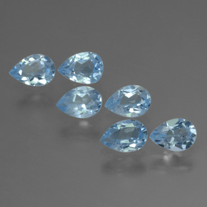 Sky Blue Topaz Gem - 0.5ct Pear Facet (ID: 452245)
