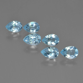 Sky Blue Topaz Gem - 0.5ct Pear Facet (ID: 452248)