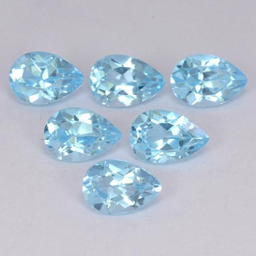 Sky Blue Topaz Gem - 0.6ct Pear Facet (ID: 452250)