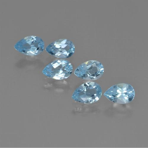 Sky Blue Topaz Gem - 0.5ct Pear Facet (ID: 452252)