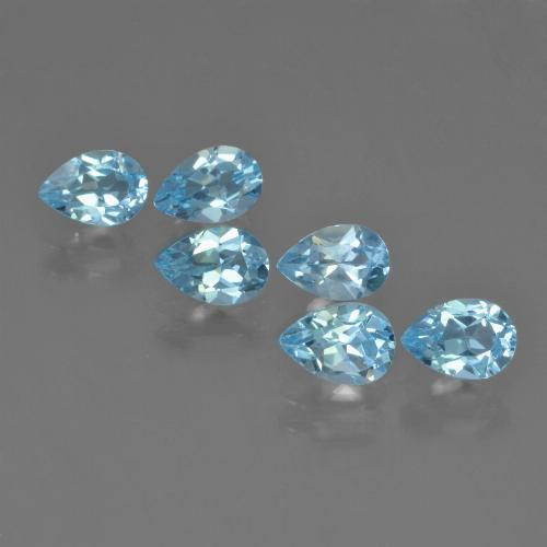 Baby Blue Topaz Gem - 0.5ct Pear Facet (ID: 452257)