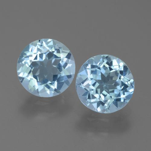 Sky Blue Topaz Gem - 2.1ct Round Facet (ID: 452288)