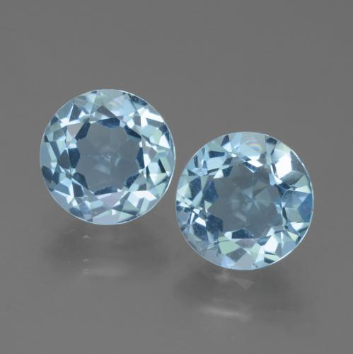 Sky Blue Topaz Gem - 2.3ct Round Facet (ID: 452291)