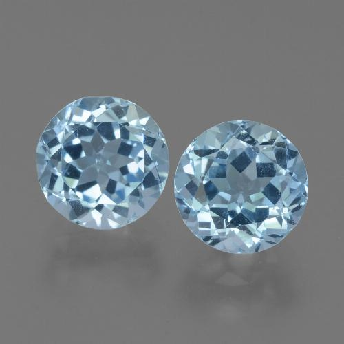 Sky Blue Topaz Gem - 2.4ct Round Facet (ID: 452294)