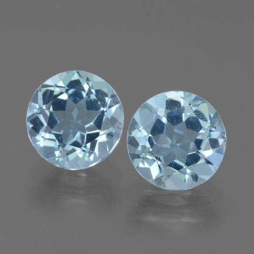 Baby Blue Topaz Gem - 2.2ct Round Facet (ID: 452295)