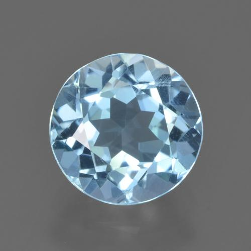 Swiss Blue Topaz Gem - 2.2ct Round Facet (ID: 452346)
