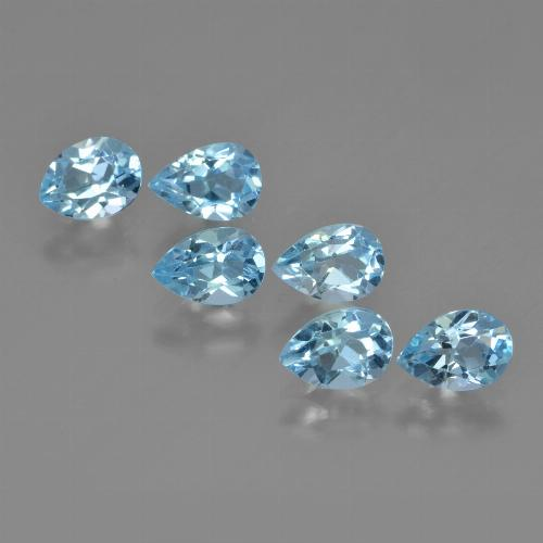 Sky Blue Topaz Gem - 0.6ct Pear Facet (ID: 452382)
