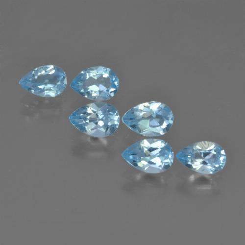 Sky Blue Topaz Gem - 0.5ct Pear Facet (ID: 452383)