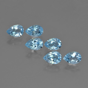 Sky Blue Topaz Gem - 0.6ct Pear Facet (ID: 452385)