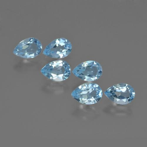 Sky Blue Topaz Gem - 0.5ct Pear Facet (ID: 452387)