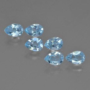Sky Blue Topaz Gem - 0.5ct Pear Facet (ID: 452416)