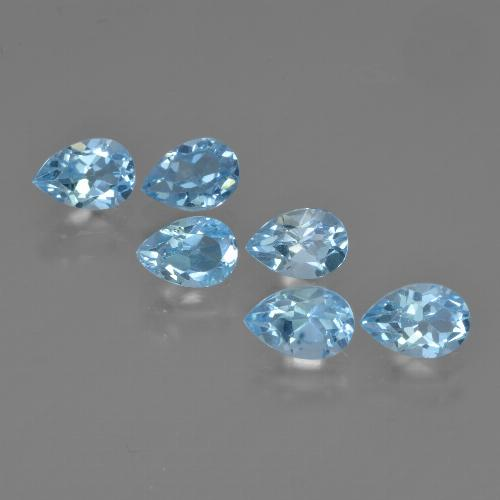 Sky Blue Topaz Gem - 0.6ct Pear Facet (ID: 452420)