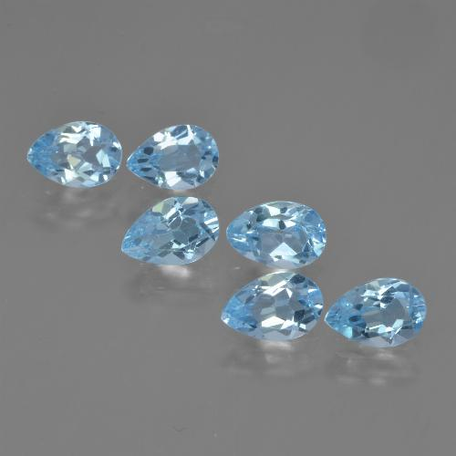 Sky Blue Topaz Gem - 0.5ct Pear Facet (ID: 452424)