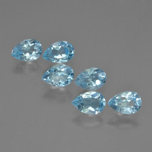 Sky Blue Topaz Gem - 0.6ct Pear Facet (ID: 452466)