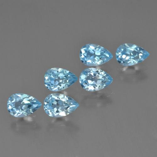 Baby Blue Topaz Gem - 0.6ct Pear Facet (ID: 452467)