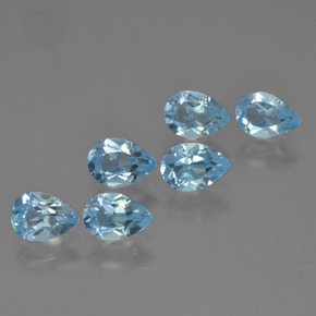 Sky Blue Topaz Gem - 0.5ct Pear Facet (ID: 452473)