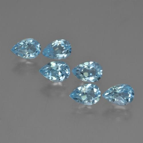 Sky Blue Topaz Gem - 0.5ct Pear Facet (ID: 452474)