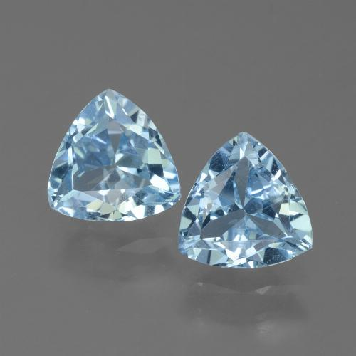 Sky Blue Topaz Gem - 1.3ct Trillion Facet (ID: 452583)