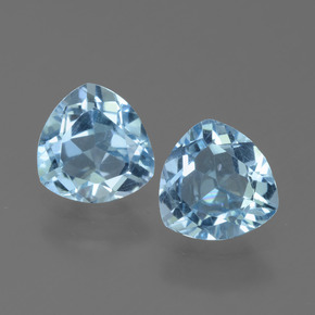 1.2ct Trillion Facet Sky Blue Topaz Gem (ID: 452585)