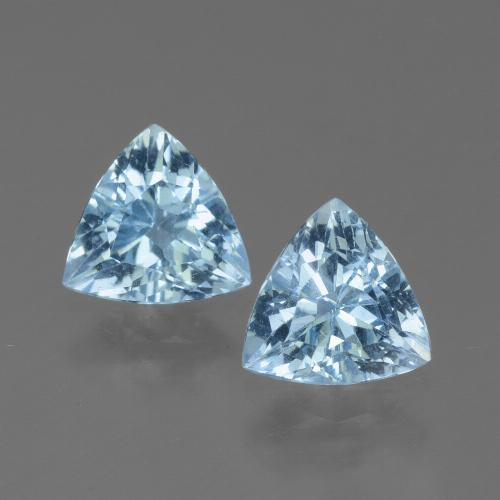 Sky Blue Topaz Gem - 1.2ct Trillion Facet (ID: 452587)