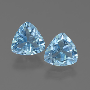 Sky Blue Topaz Gem - 1.4ct Trillion Facet (ID: 452589)