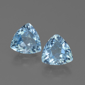 Sky Blue Topaz Gem - 1.2ct Trillion Facet (ID: 452593)